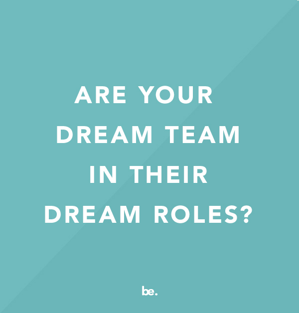 Are Your Dream Team in Their Dream Roles?